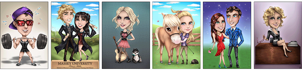 Examples of Chibi Caricatures