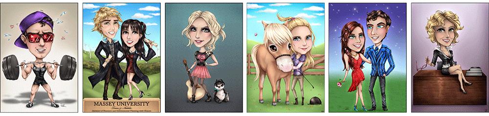 Examples of Chibi Caricatures